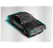 Anaglyph Hot Wheels 3 Poster