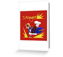 Chun-Li's sweep Greeting Card