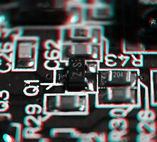 Anaglyph Circuitry 1 by Daniel Owens