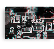 Anaglyph Circuitry 1 Canvas Print