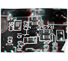 Anaglyph Circuitry 1 Poster