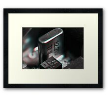Anaglyph Circuitry 3 Framed Print