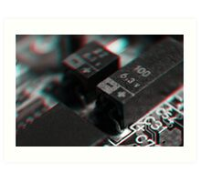 Anaglyph Circuitry 4 Art Print