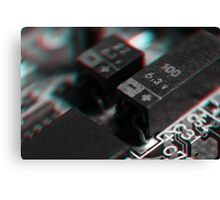 Anaglyph Circuitry 4 Canvas Print