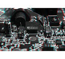 Anaglyph Circuitry 5 Photographic Print