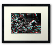 Anaglyph Circuitry 6 Framed Print