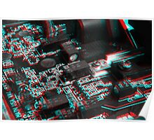 Anaglyph Circuitry 6 Poster