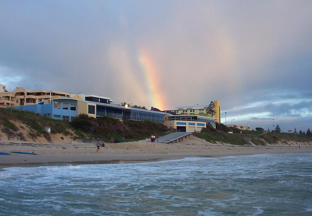 Beach Rainbow Three by Robert Phillips