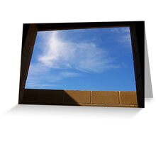 Sky Window at Perth Beach Greeting Card
