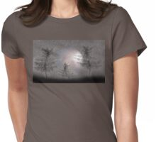 First Winter Night Snow Womens Fitted T-Shirt
