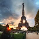 Sunset at The Eiffel Tower by Conor MacNeill