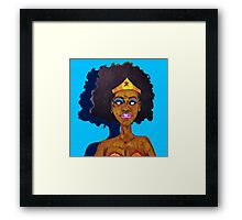 Amazing Woman Framed Print