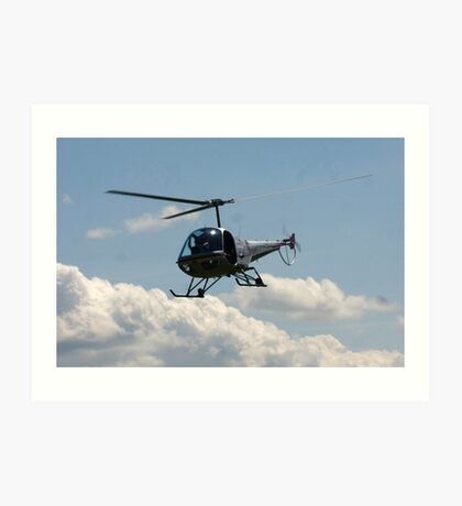 helicopter fly by Art Print