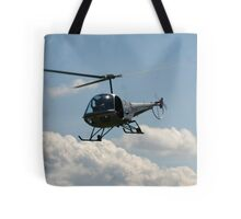 helicopter fly by Tote Bag