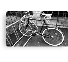 Black and White Fixie Canvas Print