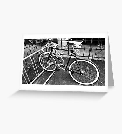 Black and White Fixie Greeting Card