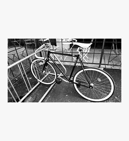 Black and White Fixie Photographic Print