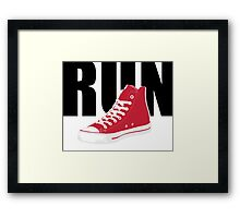 Doctor Who - RUN Framed Print