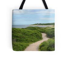 Sandy path , Block Island  Tote Bag