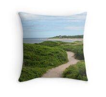 Sandy path , Block Island  Throw Pillow