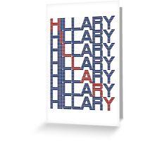 hillary clinton text stacks Greeting Card