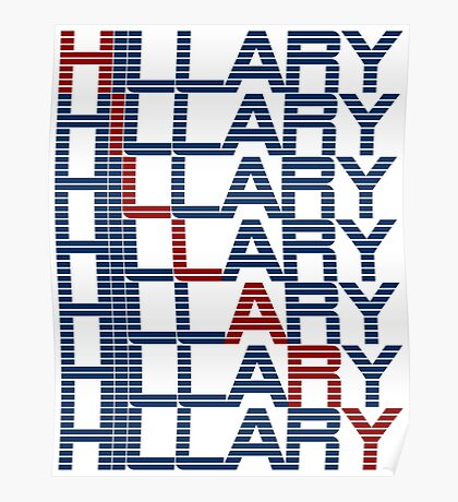 hillary clinton text stacks Poster