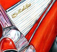 57 Bel Air in Red: the Adventure Begins, by Alma Lee by Alma Lee