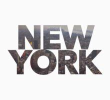"""New York"" Cityscape 2 Baby Tee"
