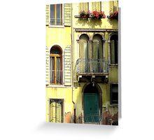 Venice Facade Greeting Card