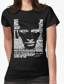 The Ninth Doctor Word Art Womens Fitted T-Shirt