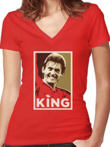 King Kenny Women's Fitted V-Neck T-Shirt