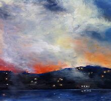Small clouds, Sydney Harbour at twiglight. by xangac
