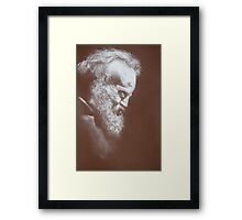 Laugh lines Framed Print
