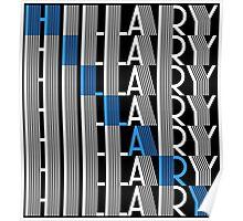 hillary clinton textStacks Poster