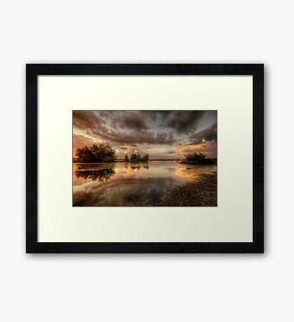 Swampset Framed Print