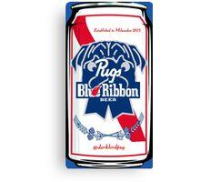 Pug Blue Ribbon Canvas Print
