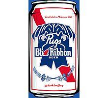 Pug Blue Ribbon Photographic Print