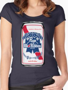 Pug Blue Ribbon Women's Fitted Scoop T-Shirt