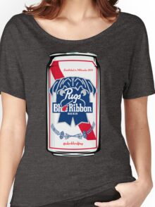 Pug Blue Ribbon Women's Relaxed Fit T-Shirt