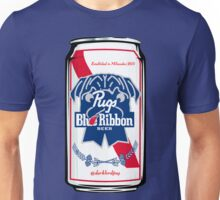 Pug Blue Ribbon Unisex T-Shirt