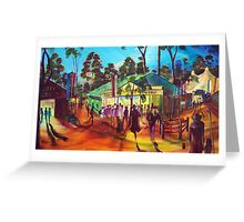 Muster Tavern   Green Gympie Greeting Card