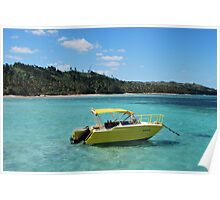 Yellow Boating Poster