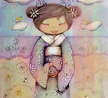 kokeshi flower girl by © Karin (Cassidy) Taylor