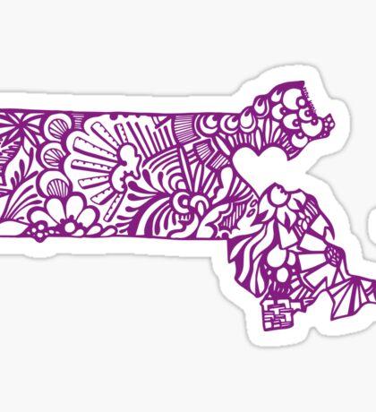 Mass_purp Sticker