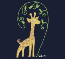 Giraffe with colour One Piece - Short Sleeve