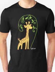 Giraffe with colour T-Shirt