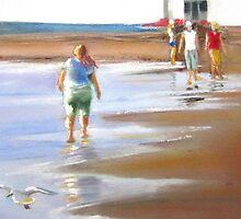 Beach Walker - Glenelg, Adelaide by Victorino  Bautista