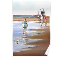 Beach Walker - Glenelg, Adelaide Poster