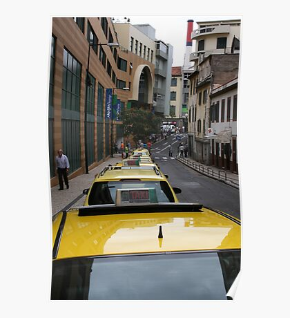 Cabs in Maderia Poster
