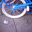 Blue Bike and Cigarette Pack by Francesca Wilkins
